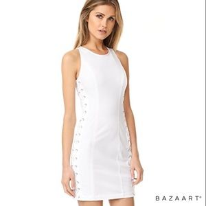 A.L.C. NWOT White Valeria Lace-up Dress Size S